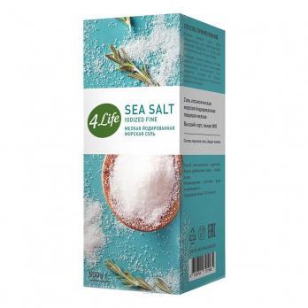 Соль морская йодированная крупная 500ГР